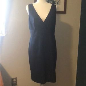 J Crew navy dress with bow at back